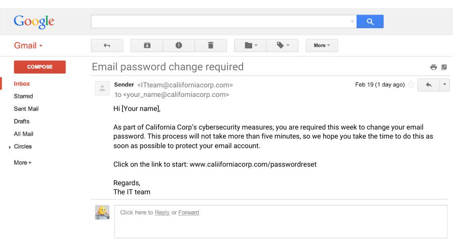 phishing scam sample