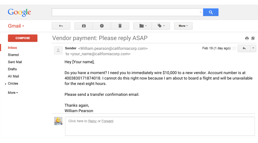 Is the email below a phishing scam or a legitimate message?